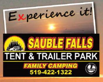 Sauble Falls Tent and Trailer Park - Sauble Beach Tel: 519-422-1322